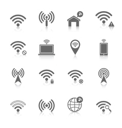 Wi-fi icons set vector