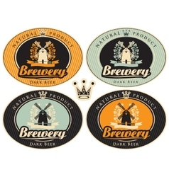 Set of labels for beer vector