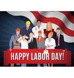 Happy Labor day american banner concept design vector image