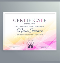 Abstract diploma certificate design vector