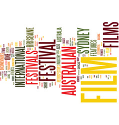 Australian film festivals text background word vector