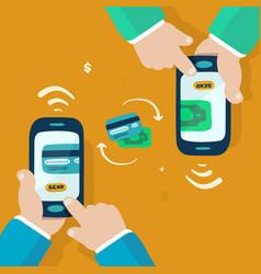 Wireless money transfer vector