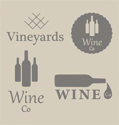 Wine beverage logos vector