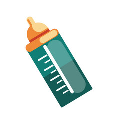 Baby bottle icon accessory necessary for vector