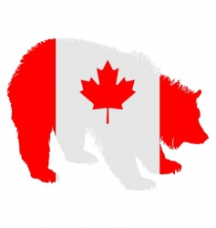 Canadian bear vector