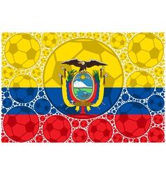 Ecuador soccer balls vector image