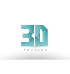 3d 3 d alphabet letter number combination green vector