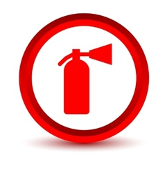 Red fire extinguisher icon vector