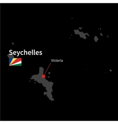 Detailed map of seychelles and capital city vector
