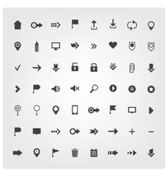 Set of web universal icons vector