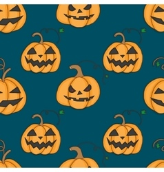 Seamless pattern with pumpkins for halloween vector