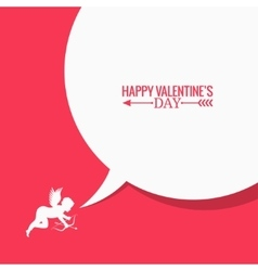 Valentines day social media concept background vector