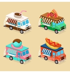 Food truck designs set of vector