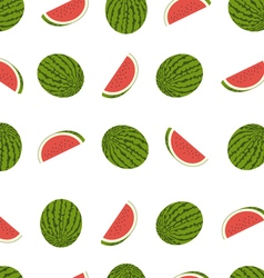Tasty watermelon seamless pattern vector