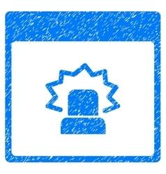Alert calendar page grainy texture icon vector