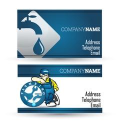 Business card for plumbing repair business vector