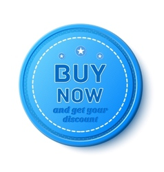 Buy now promotion badge vector