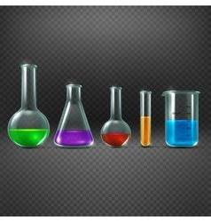 Chemical laboratory with chemicals in test tube vector