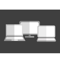 Computer laptop technology vector image