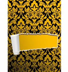 damask seamless background with hole vector image