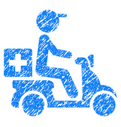 drugs motorbike delivery grunge icon vector image vector image