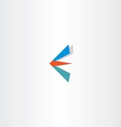 E letter logotype e sign logo icon vector