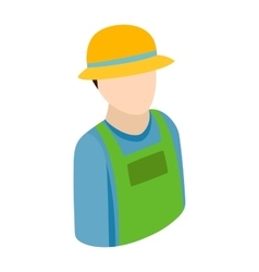 Farmer isometric 3d icon vector image