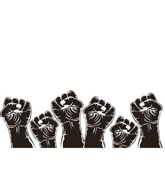 Fist for revolution vector