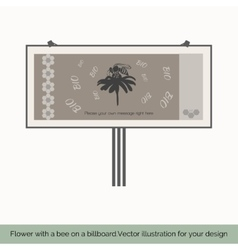 Flower with bee on a billboard 9 vector