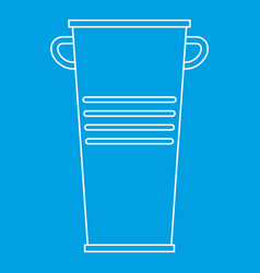 Garbage tank with handles icon outline style vector