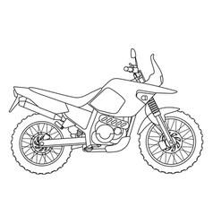 hand draw style of a new motorcycle vector image vector image