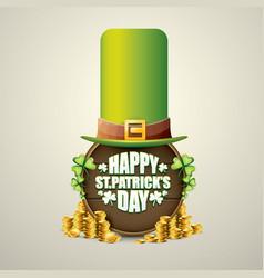 happy saint patricks day label vector image vector image