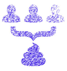 Human shit aggregator funnel icon grunge watermark vector