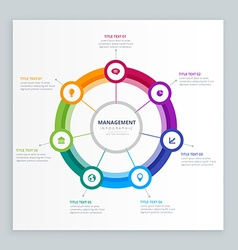 Infographic business management template vector