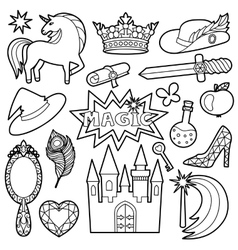 Magic Patch Set vector image