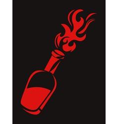 molotov stencil vector image vector image