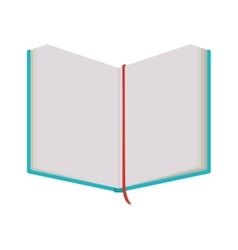 Notebook open with tape separator vector
