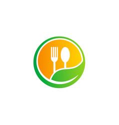 organic food restaurant logo vector image