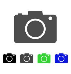 photo camera flat icon vector image vector image