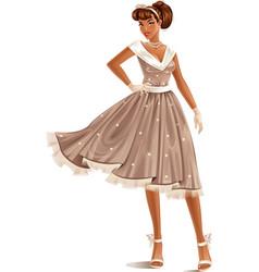 Retro dress vector