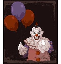 Scary clown vector