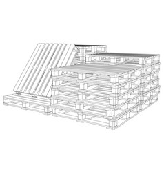 set of pallets vector image vector image