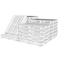 Set of pallets vector