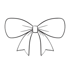 sketch bow vector image