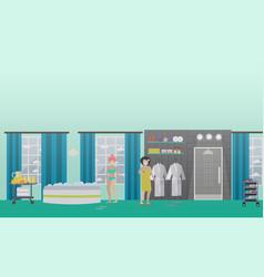 Spa aqua therapy concept flat vector