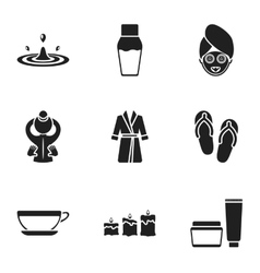 Spa set icons in black style Big collection of vector image vector image