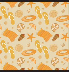 summer beach seamless pattern vector image vector image