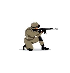 Tactical shooting sign vector image