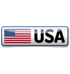 Usa flag button banner vector