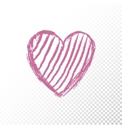 Valentines day icon heart vector image vector image